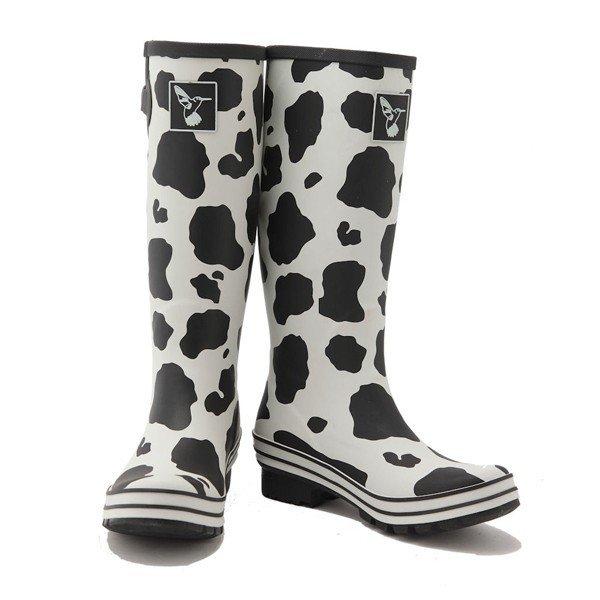 bottes de pluie imprim es vache blanc taches noires jolies bottes de pluie. Black Bedroom Furniture Sets. Home Design Ideas