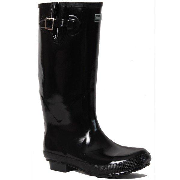 bottes de pluie noires brillantes jolies bottes de pluie. Black Bedroom Furniture Sets. Home Design Ideas