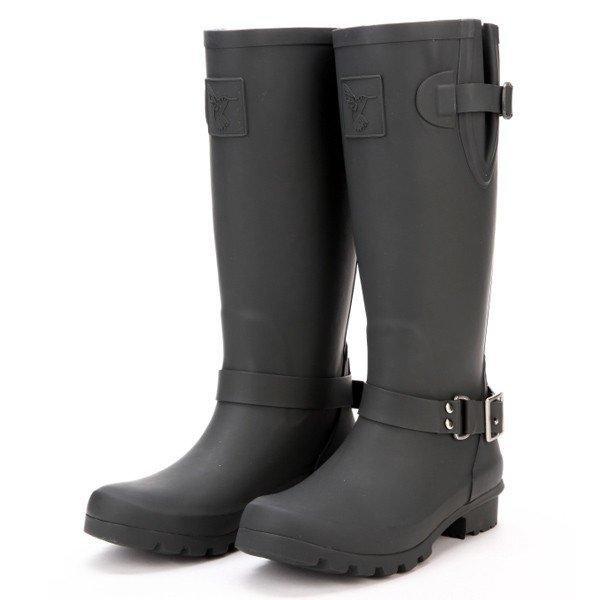 bottes de pluie noir cavali re motard jolies bottes de pluie. Black Bedroom Furniture Sets. Home Design Ideas