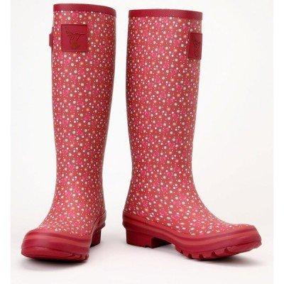 Bottes de pluie Rouge à Petits Pois colorés